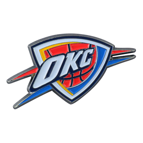 "Oklahoma City Thunder Color Metal Emblem 1.8""x3.2"""