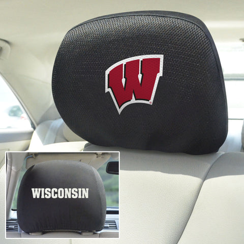 University of Wisconsin Head Rest Covers