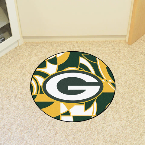 Green Bay Packers Quick Snap Roundel Mat Area Rug