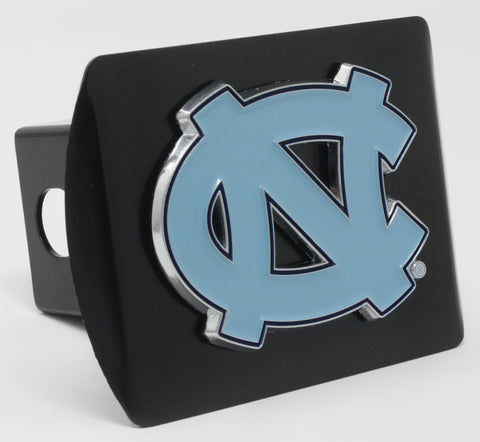 "North Carolina - Chapel Hill Color Metal Hitch Black 3.4""x4"""