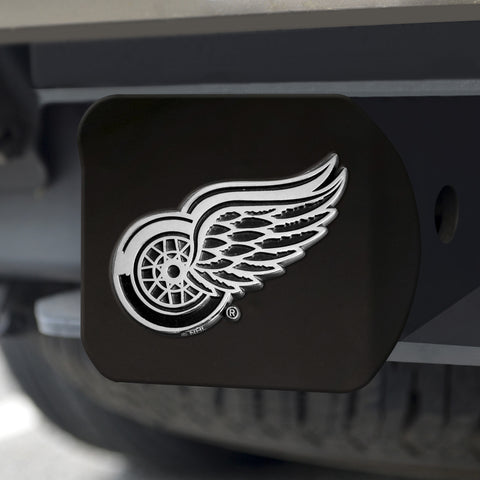 "NHL - Detroit Red Wings Black Hitch Cover 4 1/2""x3 3/8"""