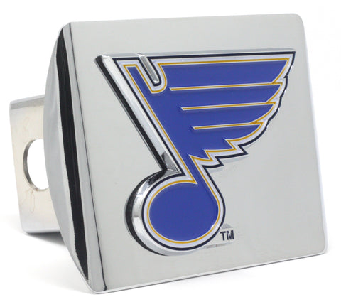 St Louis Blues Color Chrome Hitch Cover