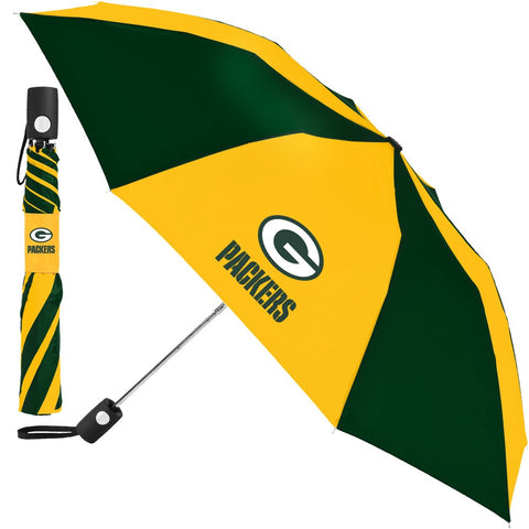 Green Bay Packers Compact Auto Folding Umbrella