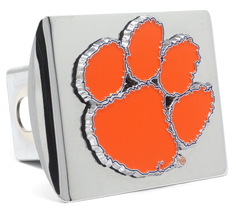 Clemson Tigers Color Chrome Hitch Cover