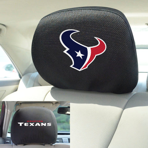 NFL - Houston Texans Head Rest Covers with Embroidered Logos