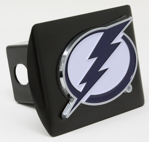 Tampa Bay Lightning Black Metal Hitch Cover with Color Emblem