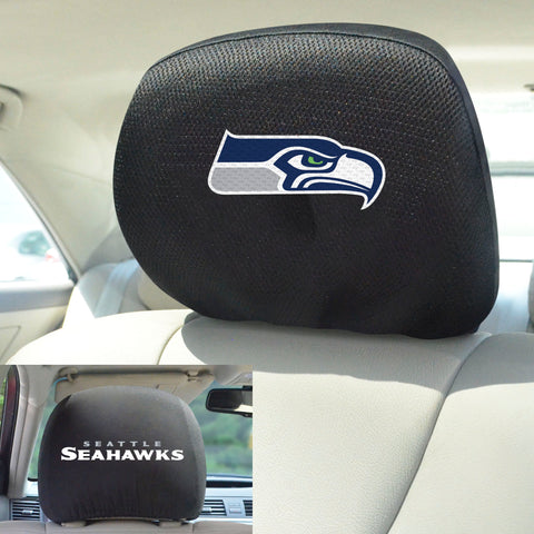 NFL - Seattle Seahawks Head Rest Covers with Embroidered Logos