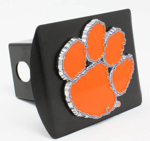 "Clemson University Color Metal Hitch Black 3.4""x4"""