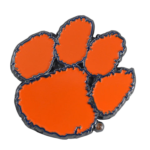 "Clemson University Color Metal Emblem 3""x3.2"""