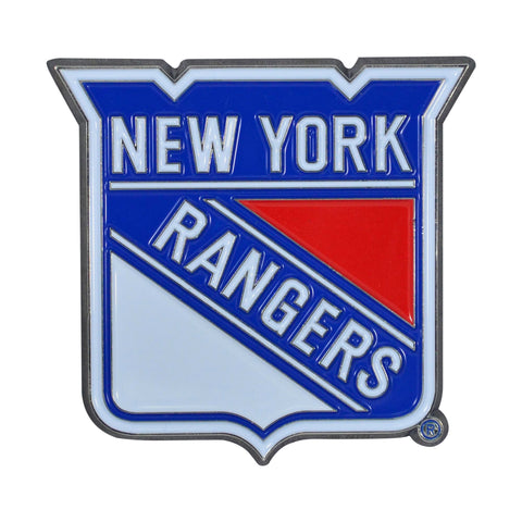 "New York Rangers Color Metal Emblem 3""x3.2"""