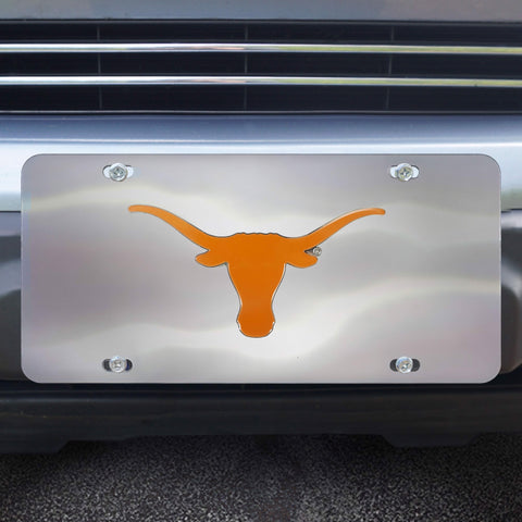 Texas Longhorns Stainless Steel Diecast License Plate