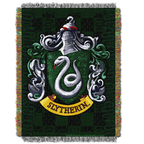Harry Potter Slytherin Shield 051 Woven Tapestry Throw