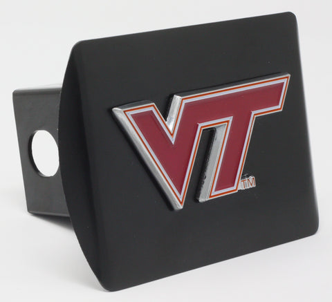 "Virginia Tech Color Metal Hitch Black 3.4""x4"""
