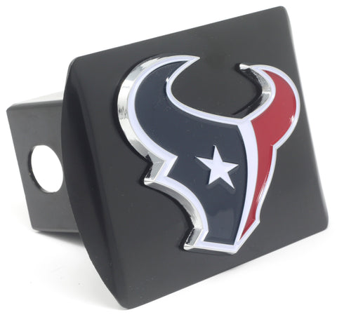 NFL - Houston Texans Black Metal Hitch Cover with Chrome Color 3D Emblem
