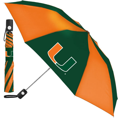 Miami Hurricanes Compact Auto Folding Umbrella