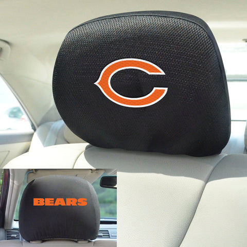 NFL - Chicago Bears Head Rest Covers with Embroidered Logos