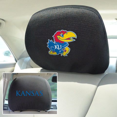 University of Kansas Head Rest Covers