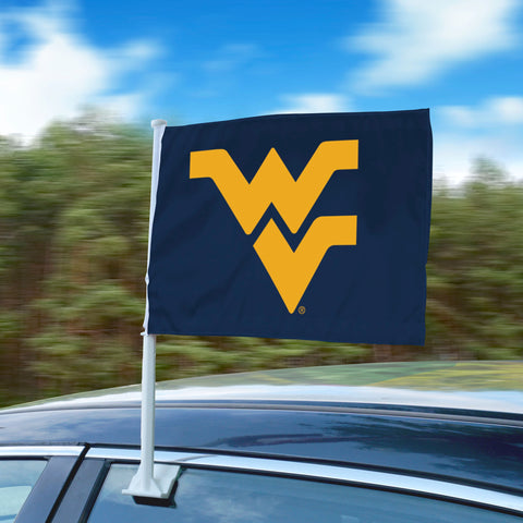 "West Virginia WVU 11""x14"" 2-Sided Window Mounted Car Flag"