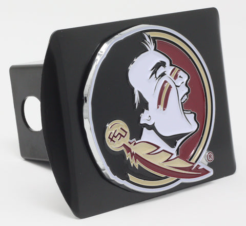"Florida State University Color Metal Hitch Black 3.4""x4"""