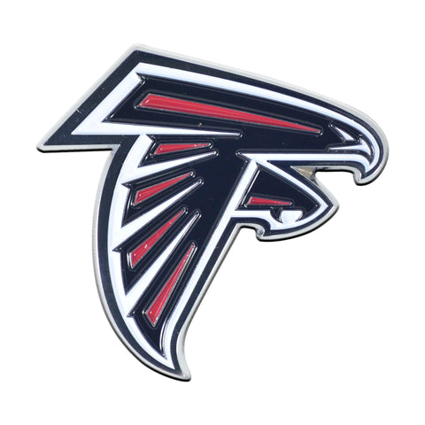 NFL - Atlanta Falcons Chrome Color Metal Emblem