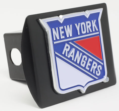 "New York Rangers Color Metal Hitch Black 3.4""x4"""