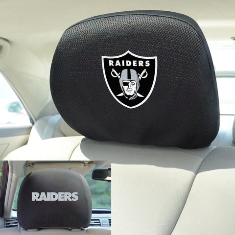 NFL - Oakland Raiders Head Rest Covers with Embroidered Logos