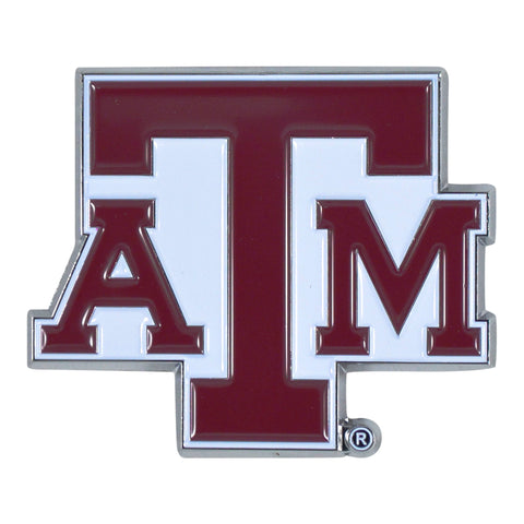 "Texas A&M University Color Metal Emblem 2.6""x3.2"""