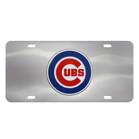 Chicago Cubs Stainless Steel Diecast License Plate