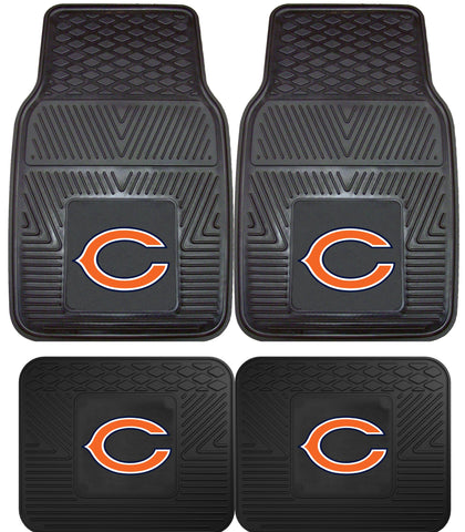 Chicago Bears 2 and 4 Piece Car Floor Mat Sets