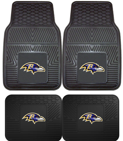 Baltimore Ravens 2 and 4 Piece Car Floor Mat Sets