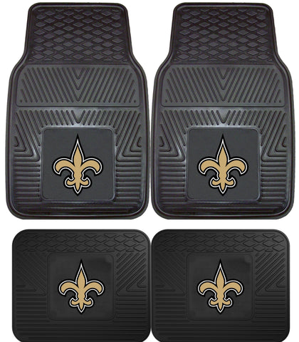 New Orleans Saints 2 and 4 Piece Car Floor Mat Sets
