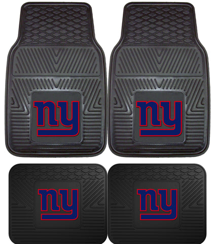 New York Giants 2 and 4 Piece Car Floor Mat Sets