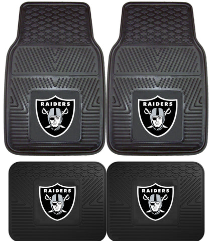 Oakland Raiders 2 and 4 Piece Car Floor Mat Sets