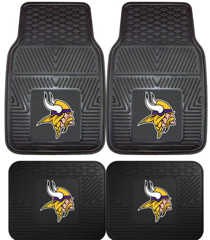 Minnesota Vikings 2 and 4 Piece Car Floor Mat Sets