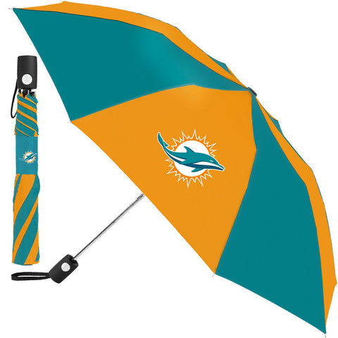 Miami Dolphins Compact Auto Folding Umbrella