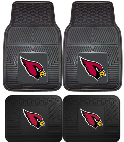 Arizona Cardinals 2 and 4 Piece Car Floor Mat Sets