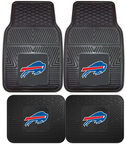 Buffalo Bills 2 and 4 Piece Car Floor Mat Sets