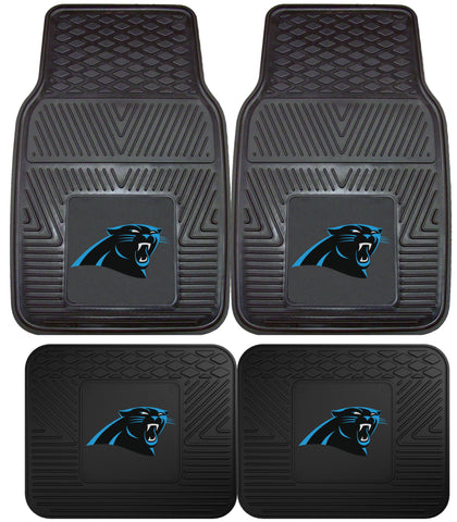 Carolina Panthers 4 Piece Car Floor Mat Set