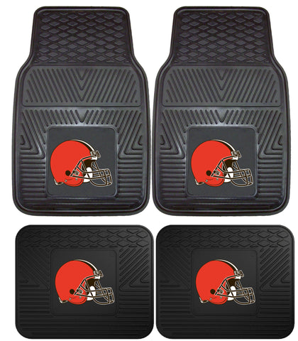 Cleveland Browns 2 and 4 Piece Car Floor Mat Sets