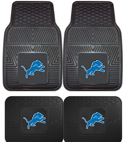 Detroit Lions 2 and 4 Piece Car Floor Mat Sets