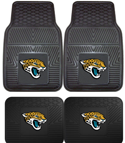 Jacksonville Jaguars 2 and 4 Piece Car Floor Mat Sets