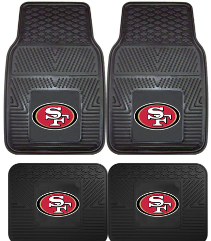 San Francisco 49ers 2 and 4 Piece Car Floor Mat Sets