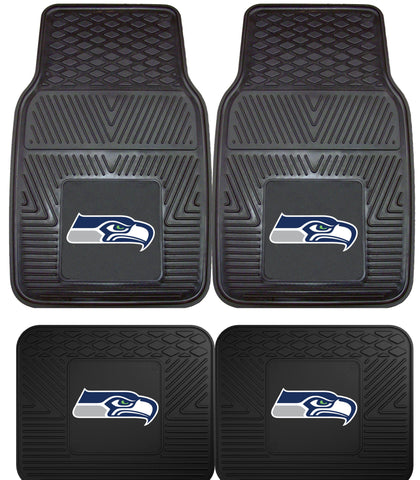 Seattle Seahawks 2 and 4 Piece Car Floor Mat Sets