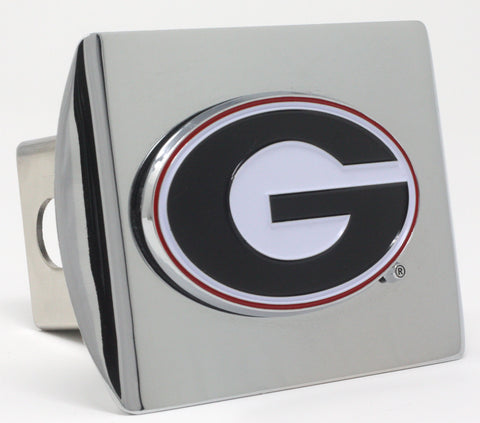 Georgia Bulldogs Color Chrome Hitch Cover