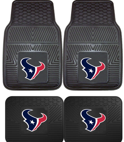 Houston Texans 2 and 4 Piece Car Floor Mat Sets