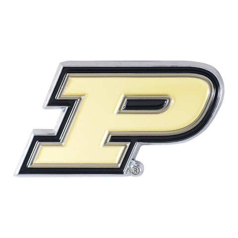 "Purdue University Color Metal Emblem 3""x3.2"""
