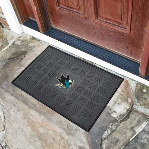 "San Jose Sharks Door Mat 19.5""x31.25"""