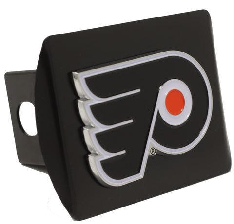 "Philadelphia Flyers Color Metal Hitch Black 3.4""x4"""