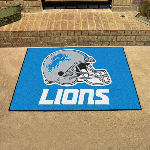 Detroit Lions All Star Area Rug Mat Model 5739
