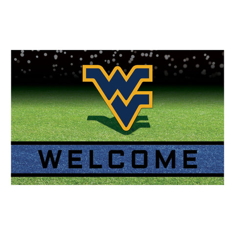 West Virginia WVU University Crumb Rubber Door Mat